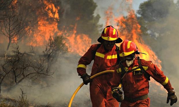 φωτιές στη Σαραγκόσα Ισπανίας