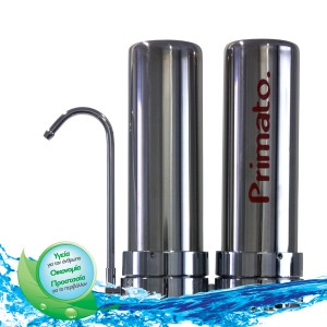διπλό ανοξείδωτο φίλτρο νερού άνω πάγκου
