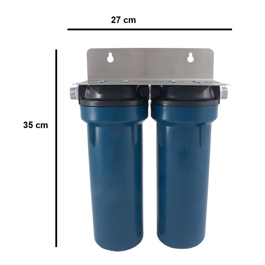 Διπλό φίλτρο νερού διαστάσεις