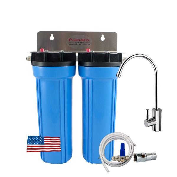 Αμερικάνικο Φίλτρο Νερού κάτω πάγκου με 2 ενεργούς άνθρακες made in USA - Primato USA2GB14