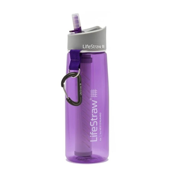 LifeStraw® GO VIOLET παγούρι επιβίωσης με φίλτρο νερού 2 σταδίων LS11107